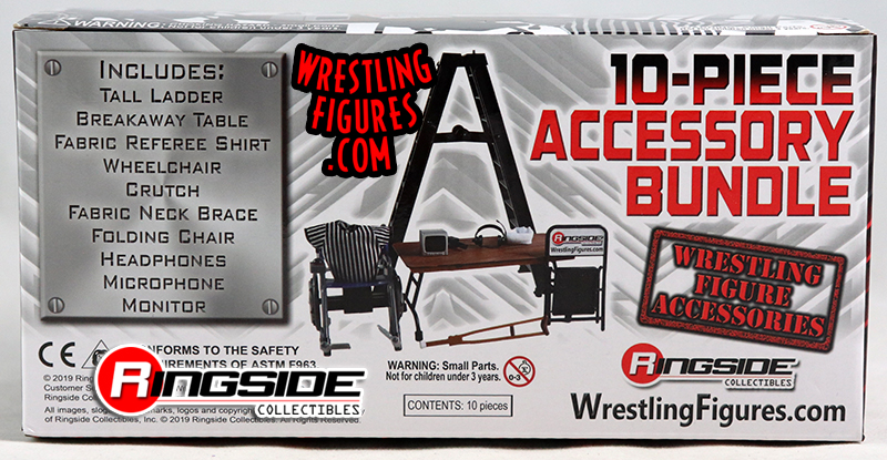 ULTIMATE 10-Piece Accessory Bundle For WWE Wrestling Action Figures