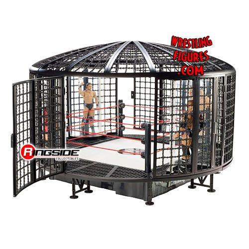Toys R Us Wwe Rings : Mattel wwe elimination chamber playset back in stock rsc