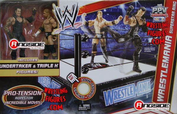 Wrestlemania Wrestling Ring Playset Ringside Collectibles