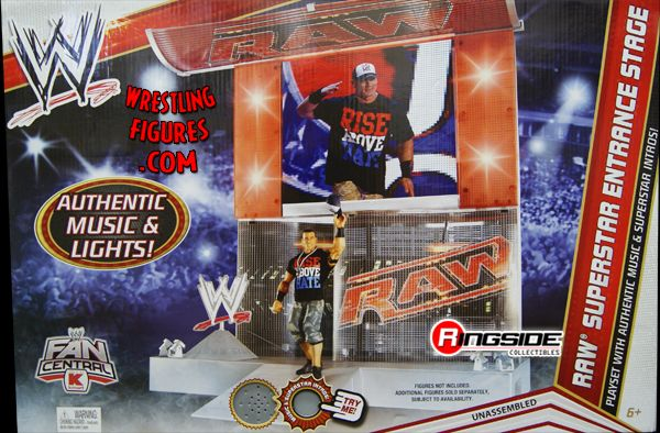 Raw Superstar Entrance Stage Playset Ringside Collectibles