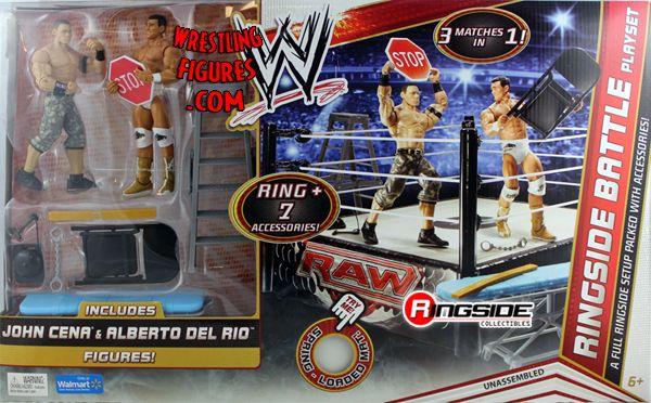 Wwe Ringside Battle Playset W John Cena Amp Alberto Del Rio