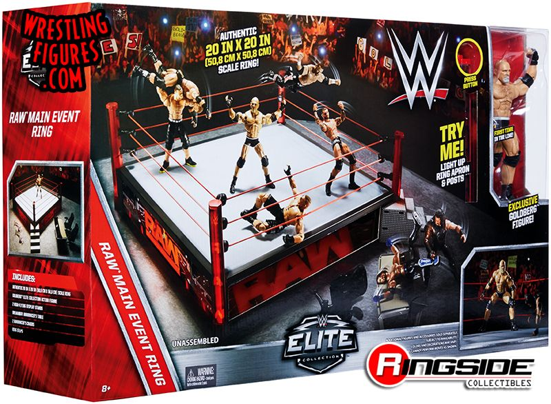 wwe mattel elite scale ring