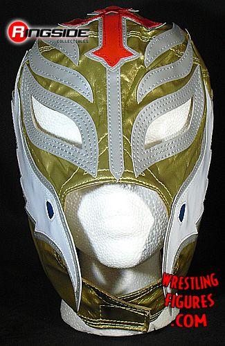 Rey Mysterio Gold Kids Size Replica Mask Ringside