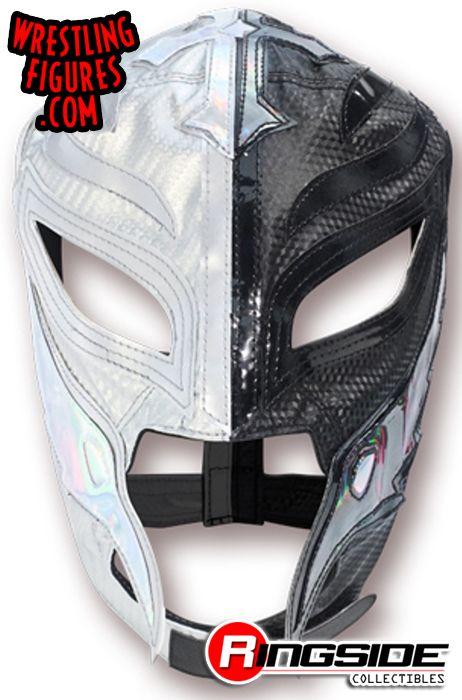 Rey Mysterio - Silver & Black Half Mask (Kids Size Replica ... Ultimate Mysterio