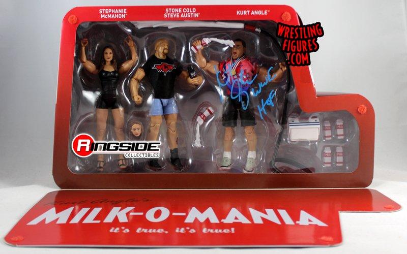 WWE Mattel Steve Austin Epic Moments Milk-A-Mania Elite Series FIGURE ONLY loose