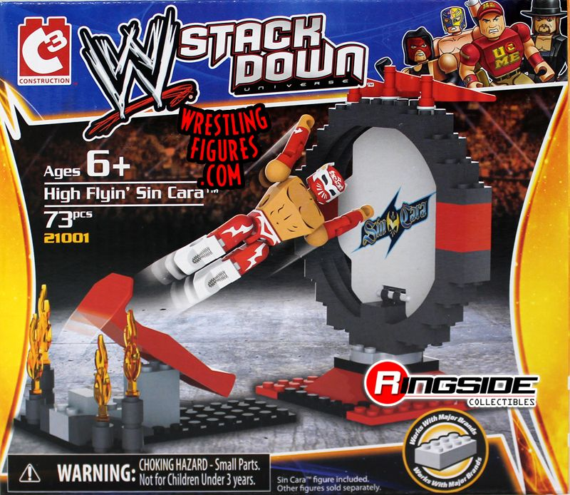 High Flyin' Sin Cara WWE Stackdown Playset!