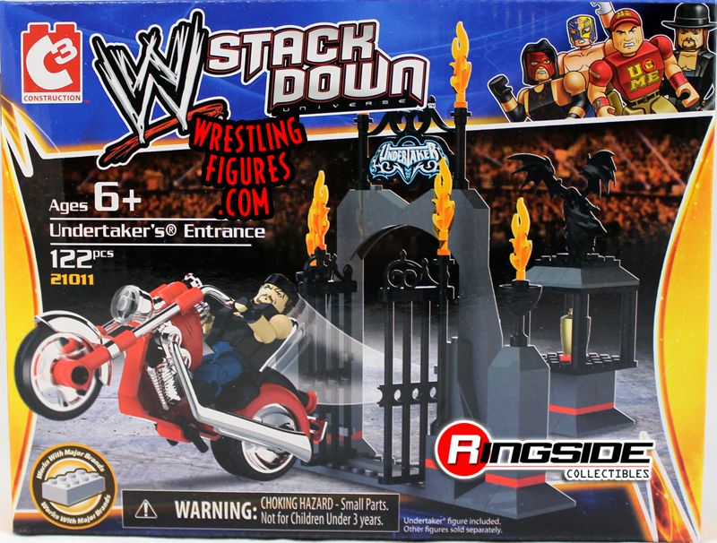 Undertaker W Motorcycle Entrance Wwe Stackdown Playset