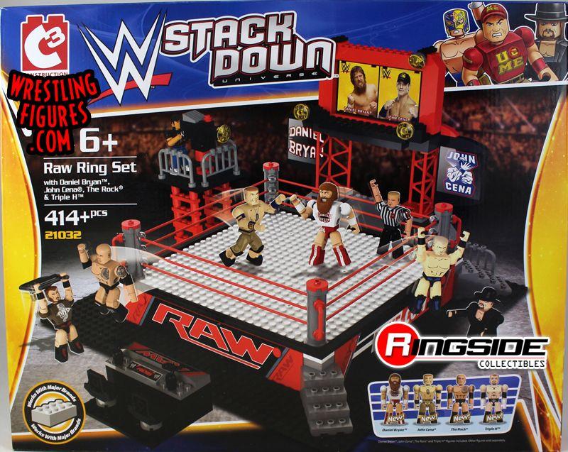 Raw Ring Set Wwe Stackdown Playset W Daniel Bryan John