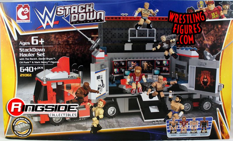 Stackdown Hauler Set Wwe Stackdown Playset W The Rock