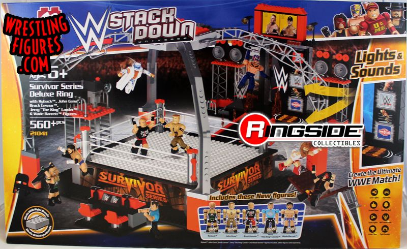 Survivor Series Deluxe Ring Wwe Stackdown Playset W