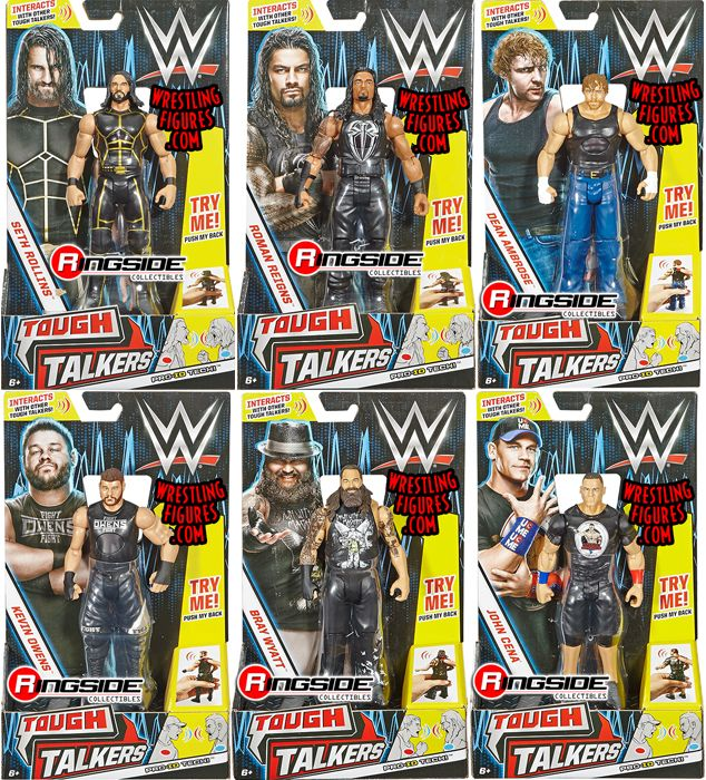Wwe Tough Talkers Series 1 Toy Wrestling Action Figures By
