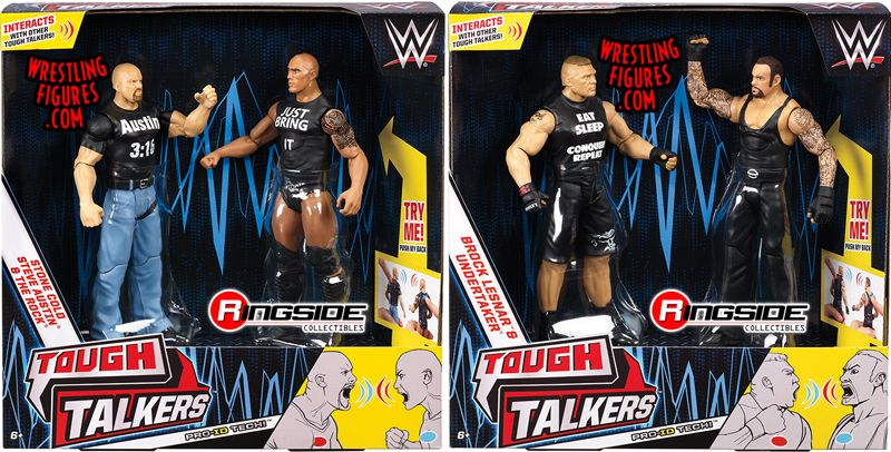 Wwe Tough Talkers 2 Packs Series 1 Complete Set Of 2 Wwe