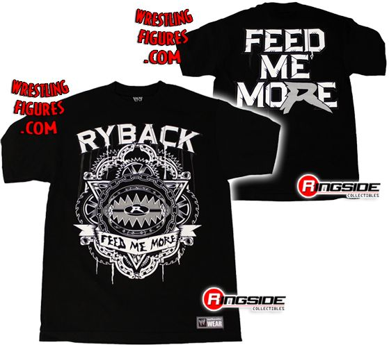 ryback feed me more wwe tshirt ringside collectibles