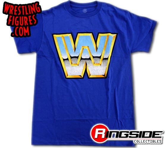 wwe vintage logo wwe tshirt ringside collectibles
