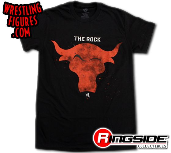 The Rock Red Bull Wwe T Shirt Ringside Collectibles