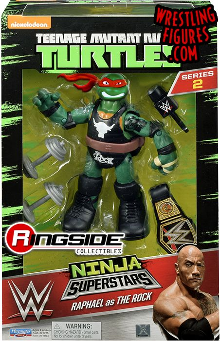 Raphael Raph As The Rock Tmnt Wwe Ninja Superstars 2