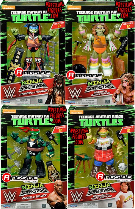 Tmnt Wwe Ninja Superstars 2 Complete Set Of 4 Action