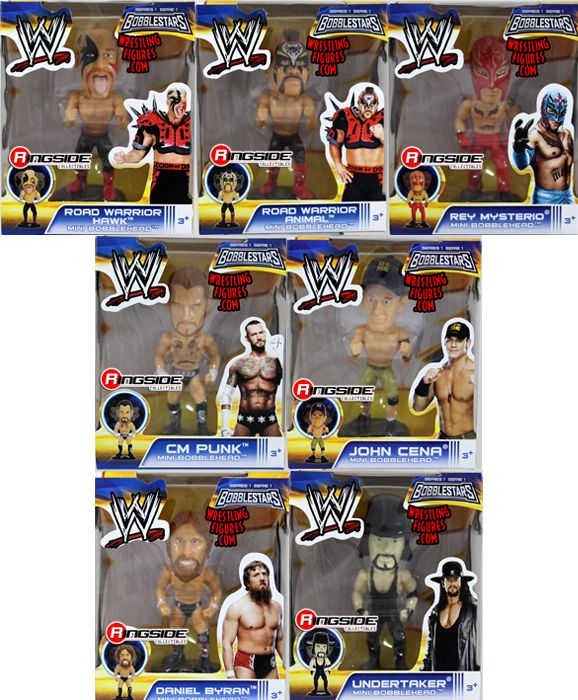 Wwe 3 5 Quot Mini Bobbleheads Complete Set Of 7 Series 1