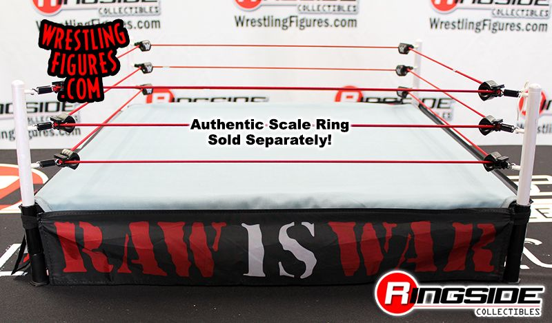 WWE Wicked Cool Toys Authentic Scale Ring Raw is War Apron Ring Skirt Accessory