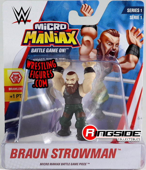 WWE Micro Maniax Series 1 Wicked Cool Toy Wrestling Action Figure Roman Reigns