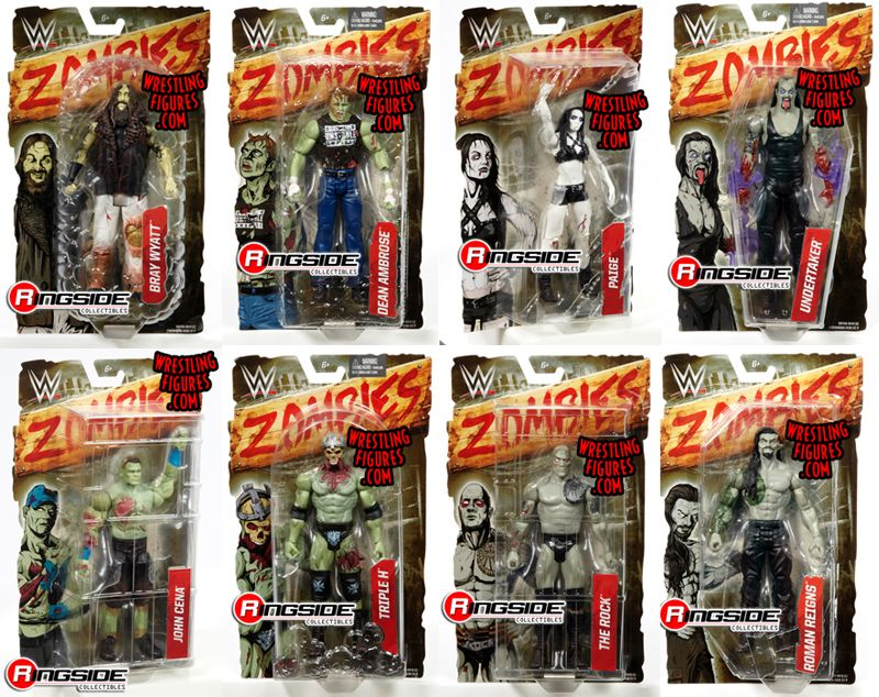 Wwe Zombies 1 Complete Set Of 8 Wwe Toy Wrestling Action