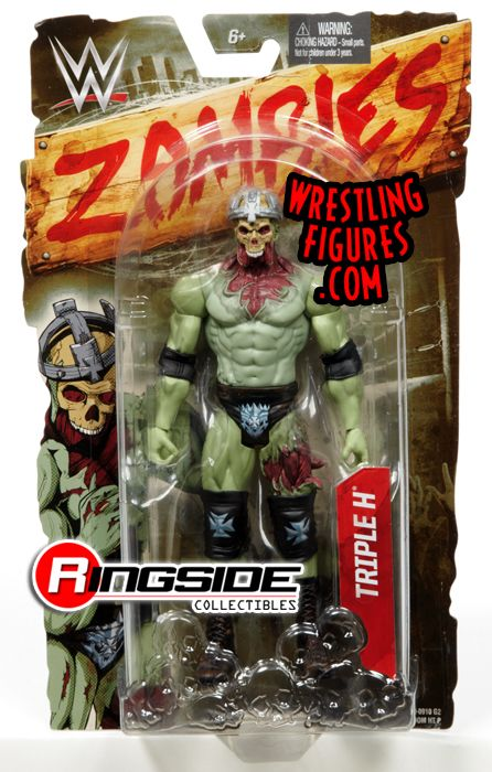 "WWE Zombies TRIPLE H Zombified NEW Series 1 Mattel 6/"" Action Wrestling Figure"
