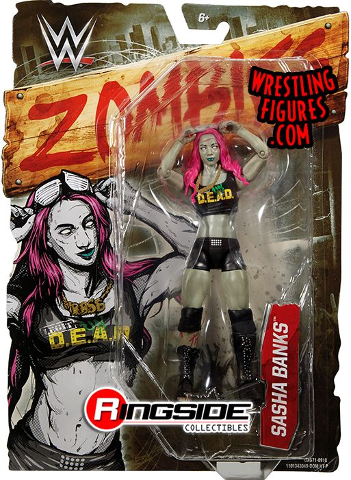 Sasha Banks Wwe Zombies Series 2 Wwe Toy Wrestling